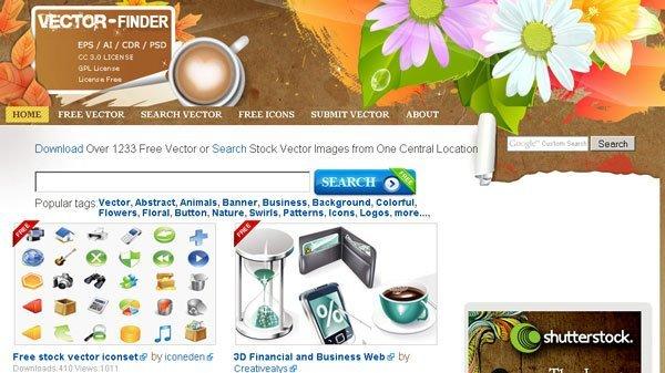 Vector Finder – La migliore risorsa per Vettoriali free