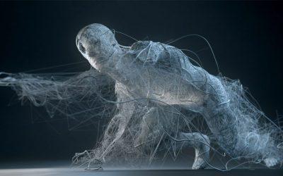 Sculture digitali di Bryan Coleman | Disintegration