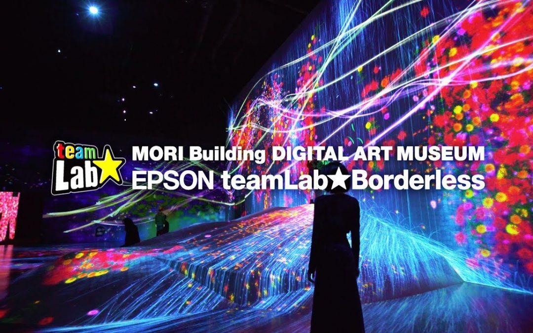 "Videomapping ""Bordless"" al Digital Art Museum di Tokyio."