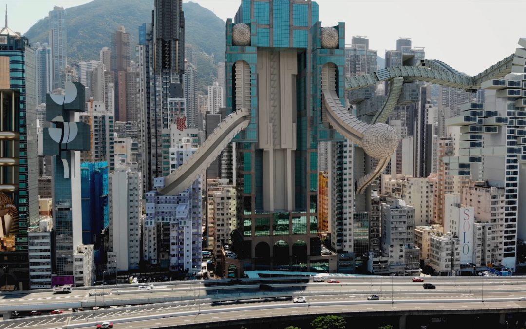 Visioni future di una metropoli dell'artista AUJIK